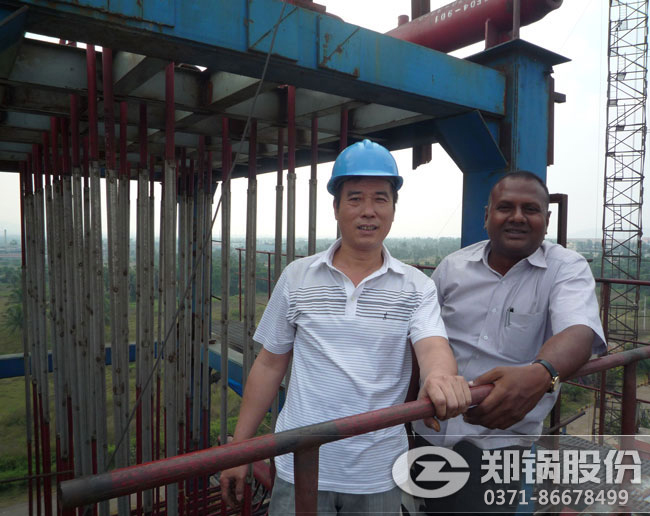 印度火电厂35吨循环流化床电站锅炉项目负责人合影